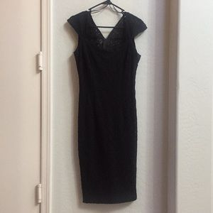 Midi black dress Zara